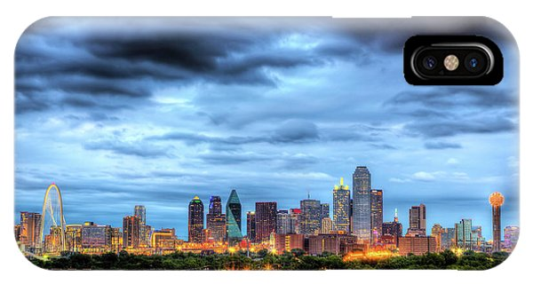 Texas iPhone Case - Dallas Skyline by Shawn Everhart