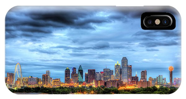 University iPhone Case - Dallas Skyline by Shawn Everhart