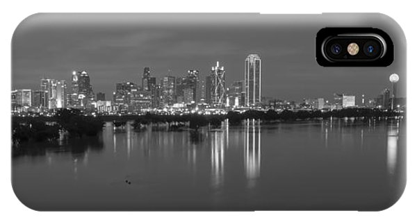 Dallas Skyline Trinity Black And White IPhone Case