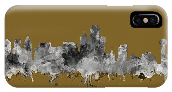 Dallas Skyline Watercolor 2 IPhone Case
