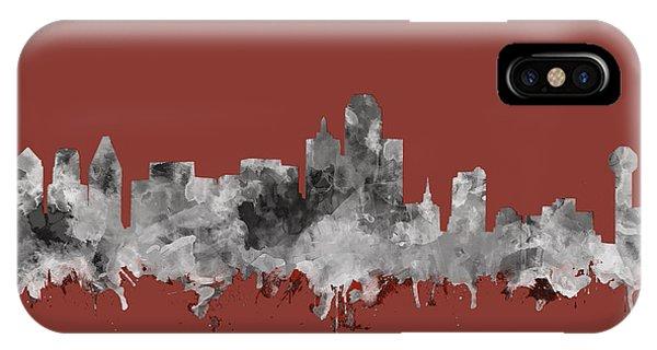 Dallas Skyline Watercolor 3 IPhone Case