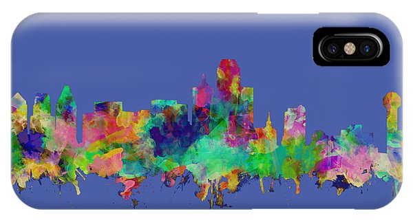Dallas Skyline Watercolor IPhone Case