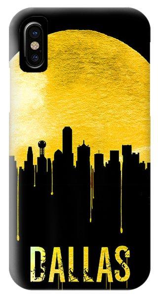 Dallas Skyline Yellow IPhone Case