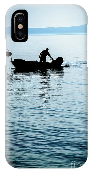 Dalmatian Coast Fisherman Silhouette, Croatia IPhone Case