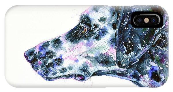 IPhone Case featuring the painting Dalmatian by Zaira Dzhaubaeva