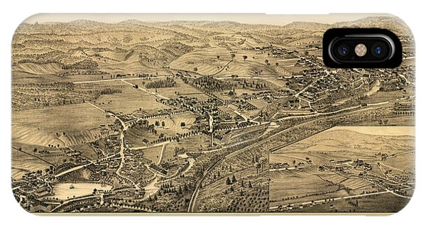 1877 iPhone Case - Dalton, Mass. by Burleigh Litho