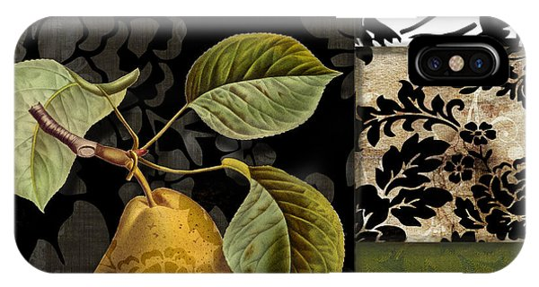 Pears iPhone Case - Damask Lerain by Mindy Sommers