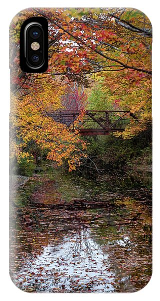 Danbury Bridge In Fall IPhone Case