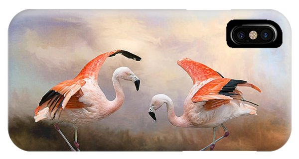 Dance Of The Flamingos  IPhone Case