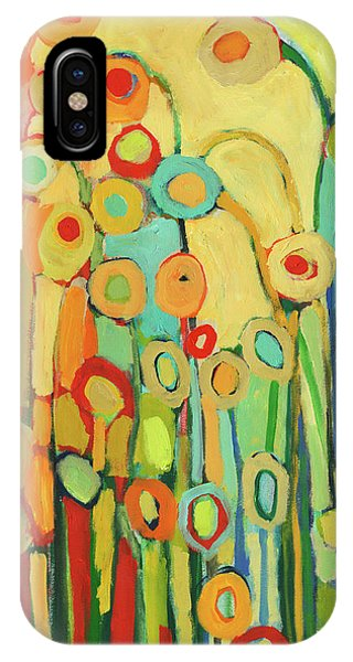 Red iPhone X Case - Dance Of The Flower Pods by Jennifer Lommers