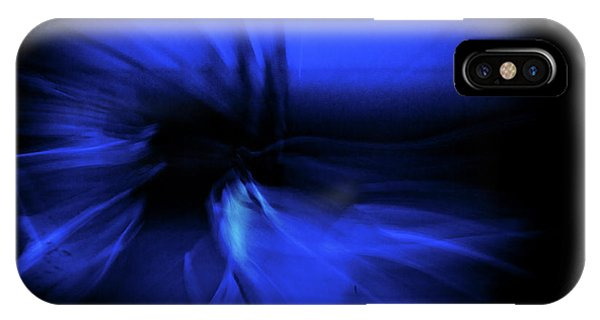 Dance Swirl In Blue IPhone Case