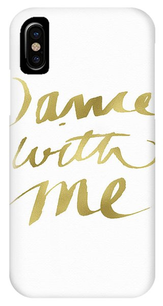 Dance With Me Gold- Art By Linda Woods IPhone Case