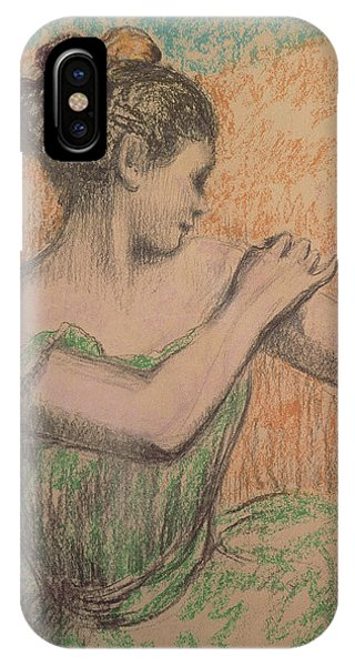 Pastel Pencil iPhone Case - Dancer by Degas
