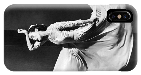Horizontal iPhone Case - Dancer Martha Graham by Underwood Archives