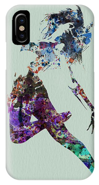 Musical iPhone Case - Dancer Watercolor by Naxart Studio