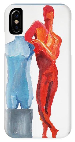Dancer With Mannekin IPhone Case