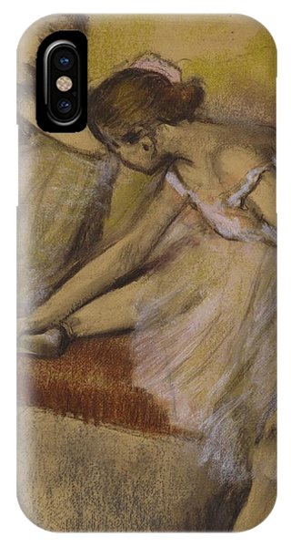 Ballerina iPhone Case - Dancers In Repose by Edgar Degas