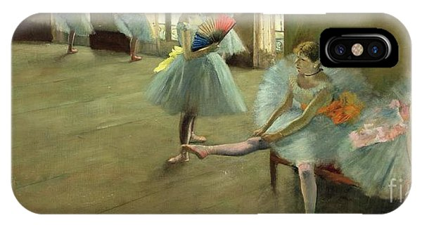 Classroom iPhone Case - Dancers In The Classroom by Edgar Degas
