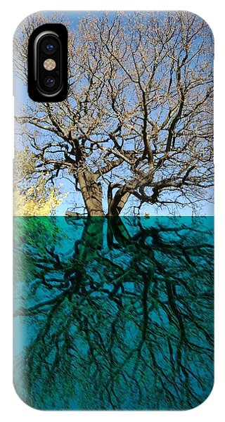 Dancers Tree Reflection  IPhone Case