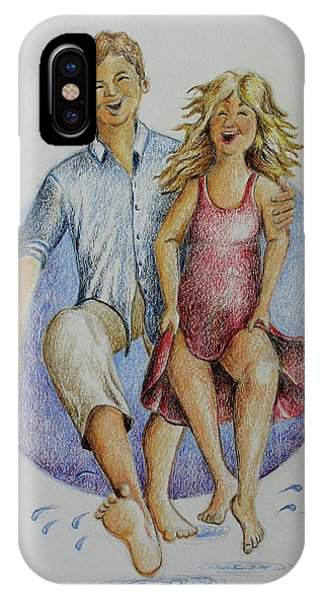 Dancing Barefoot In The Rain IPhone Case