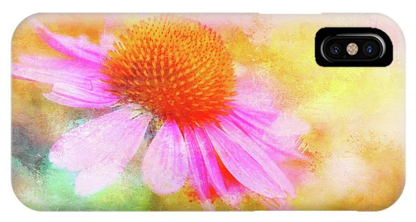 Dancing Coneflower Abstract IPhone Case