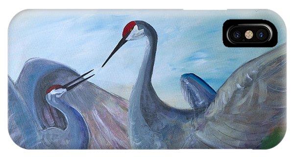 Dancing Cranes IPhone Case