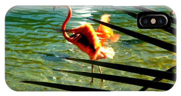 Dancing Flamingo IPhone Case