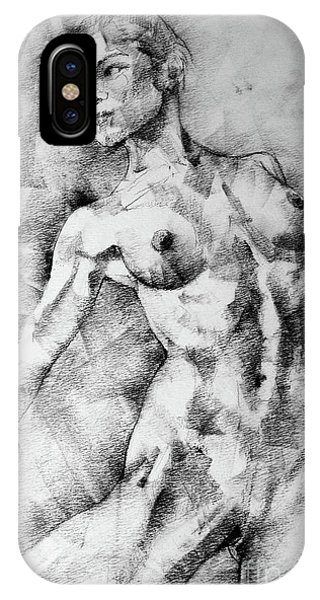 Dancing Girl Drawing IPhone Case