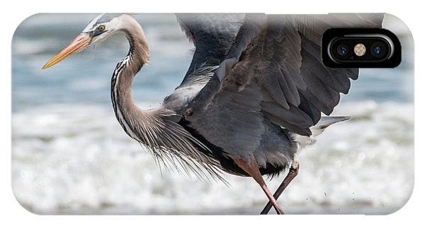 Dancing Heron #2/3 IPhone Case