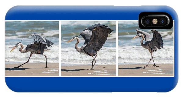Dancing Heron Triptych IPhone Case