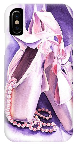 Dancing Pearls Ballet Slippers  IPhone Case
