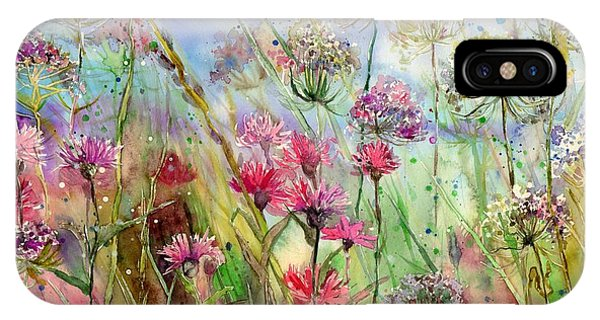 Poppies iPhone Case - Dancing Thistles by Suzann Sines