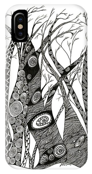 Dancing Trees IPhone Case