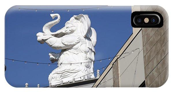 Dancing White Elephant IPhone Case