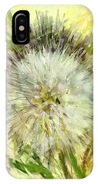 Dandelion Sunshower IPhone Case