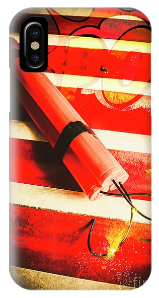 Danger Bomb Background IPhone Case