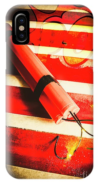 Danger iPhone Case - Danger Bomb Background by Jorgo Photography - Wall Art Gallery
