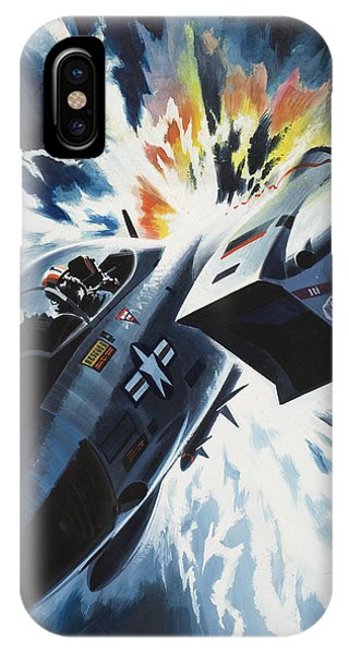 Damage iPhone Case - Danger From The Skies by Wilf Hardy