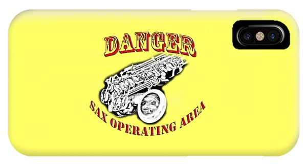 Danger Sax Operating Area IPhone Case