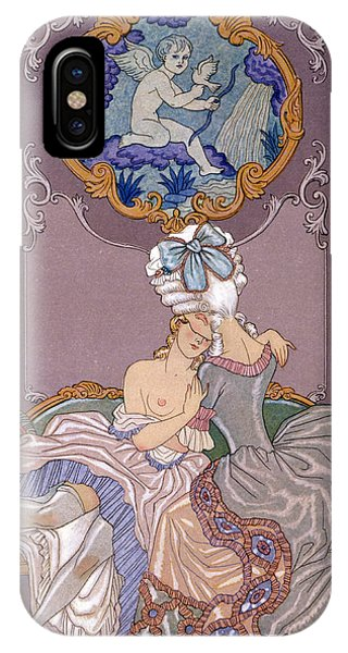 Chaise iPhone Case - Dangerous Liaisons by Georges Barbier