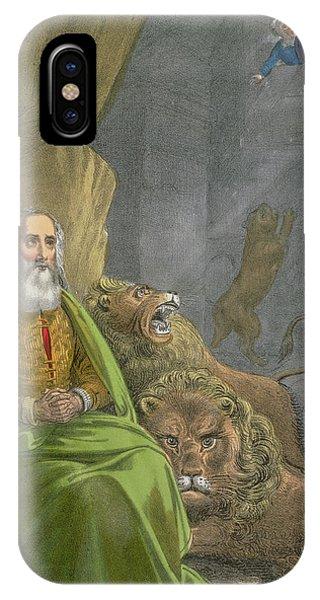 Dungeon iPhone Case - Daniel In The Lions' Den by Siegfried Detler Bendixen