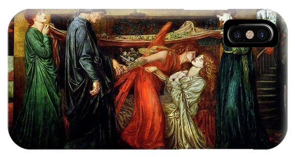Pre-modern iPhone Case - Dante's Dream  by Dante Gabriel Rossetti