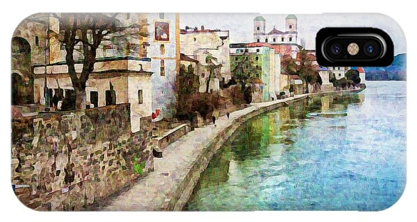 Danube River At Passau, Germany IPhone Case