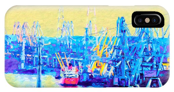 Pylon iPhone Case - Danubian Cranes by GabeZ Art