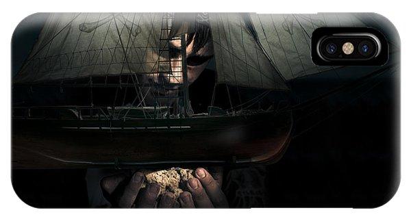 Schooner iPhone Case - Dark Adventure by Jorgo Photography - Wall Art Gallery