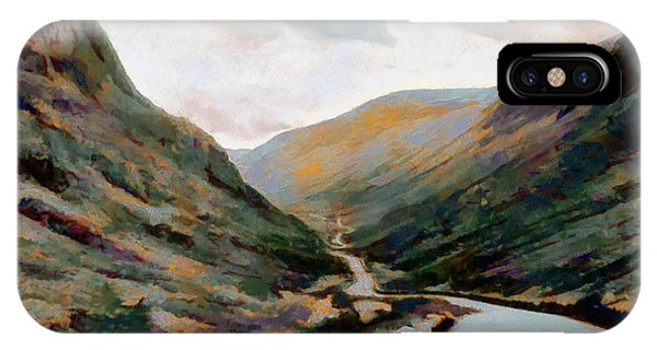 Dark And Moody Honister Pass In Cumbria IPhone Case