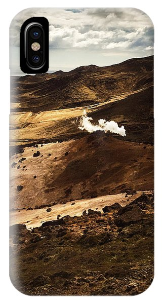 Landscapes iPhone Case - Dark And Steaming Iceland by Matthias Hauser