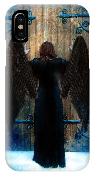 Dark Angel At Church Doors IPhone Case