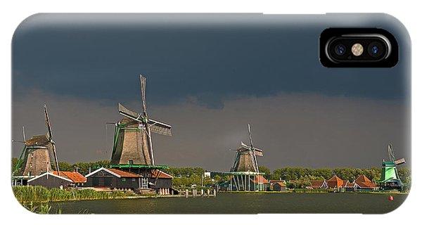 Dark Clouds Above Zaanse Schans IPhone Case
