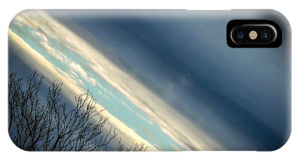 Dark Clouds Parting IPhone Case
